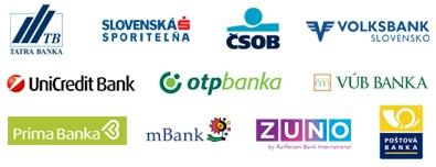 banky podporujúce platby trustpay