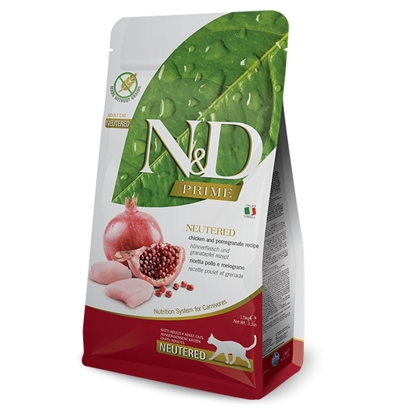Farmina N&D GF cat adult neutered chicken and pomegranate 1,5 kg