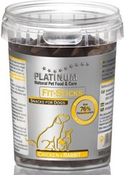 PLATINUM Natural Fit-Sticks Kura + Králik 300 g