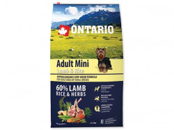 ONTARIO Adult Mini Lamb and Rice - 6,5kg