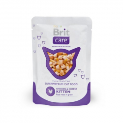 Brit care kapsička pre mačiatka Chicken & Cheese 80 g