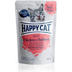 Happy Cat Meat in Sauce Adult kura a losos 85 g
