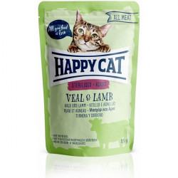 Happy Cat All Meat Sterilised teľa a jahňa 85 g