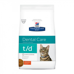 Hill's Diet t/d Dental Care Chicken granule pre mačky 1,5 kg