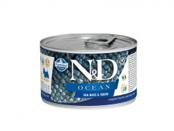 Farmina N&D dog OCEAN Sea Bass & Squid konzerva 140 g