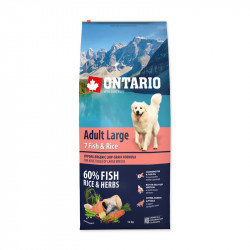 ONTARIO Adult Large 7 Fish and Rice - 12kg