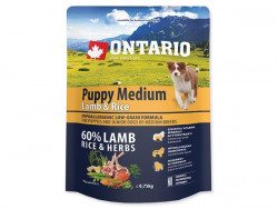 ONTARIO Puppy Medium Lamb and Rice - 0,75kg
