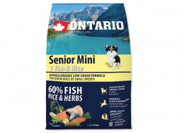 ONTARIO Senior Mini 7 Fish and Rice - 2,25kg