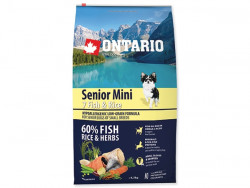 ONTARIO Senior Mini 7 Fish and Rice - 6,5kg