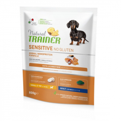 Trainer natural sensitive adult mini losos 800g